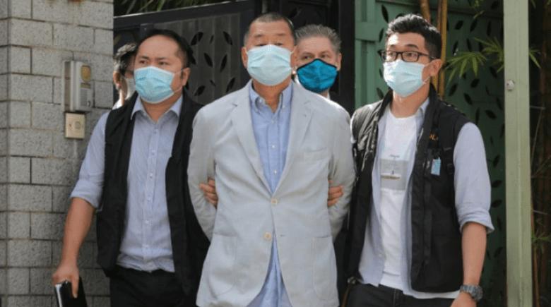 apple daily hong kong raid police jimmy lai