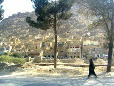 Dusty hillside, Kabul