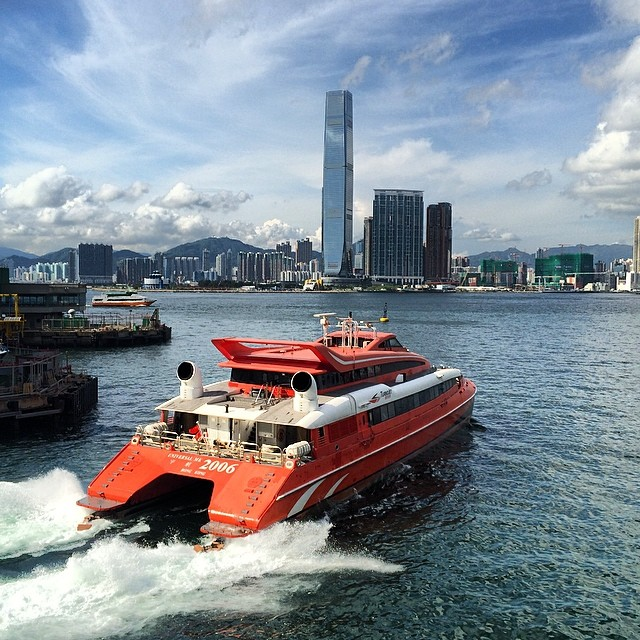 The ferry to Macau departing from Shun Tak Centre - Hong Kong Thru My Eyes