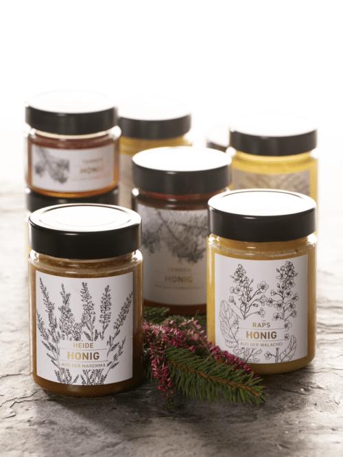 Unsere Honige im 480g Glas