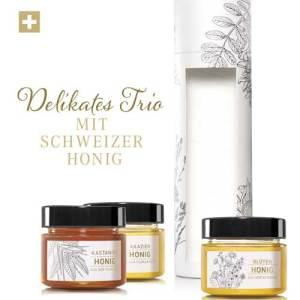 Schweizer Blütenhonig, Kastanienhonig und Akazienhonig