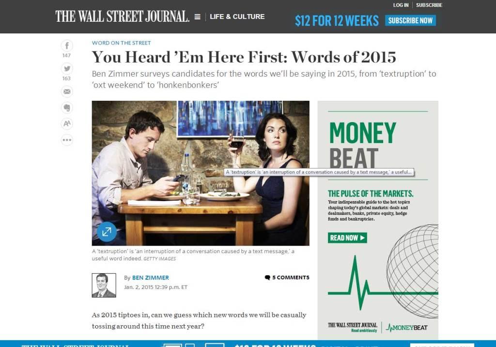 Honkenbonkers in the Wall Street Journal
