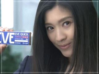 篠原涼子のイブクイックのCM画像