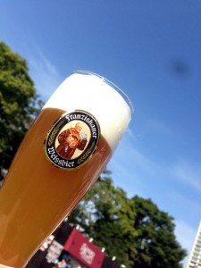 青空とビール