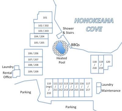 Honokeana Cove condos site plan