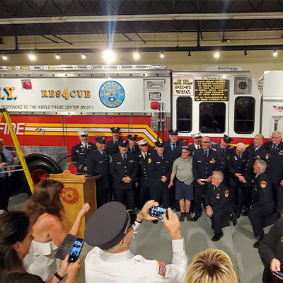 Hall of Flame- FDNY Rescue 4 Dedication Ceremony, Phoenix, AZ