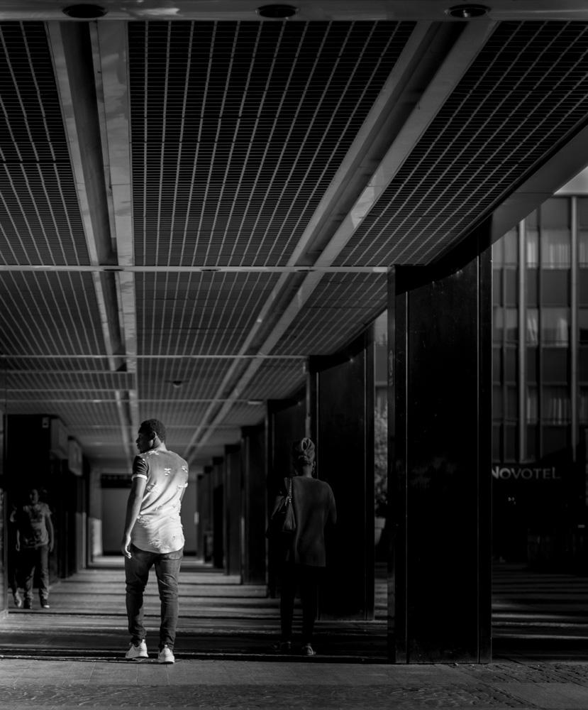 Photo de rue noir et blanc