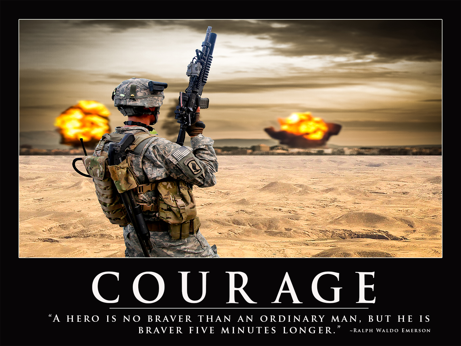 Army Motivation Poster   Honor Duty Valor