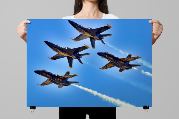 Navy Blue Angels Poster Honor Duty Valor