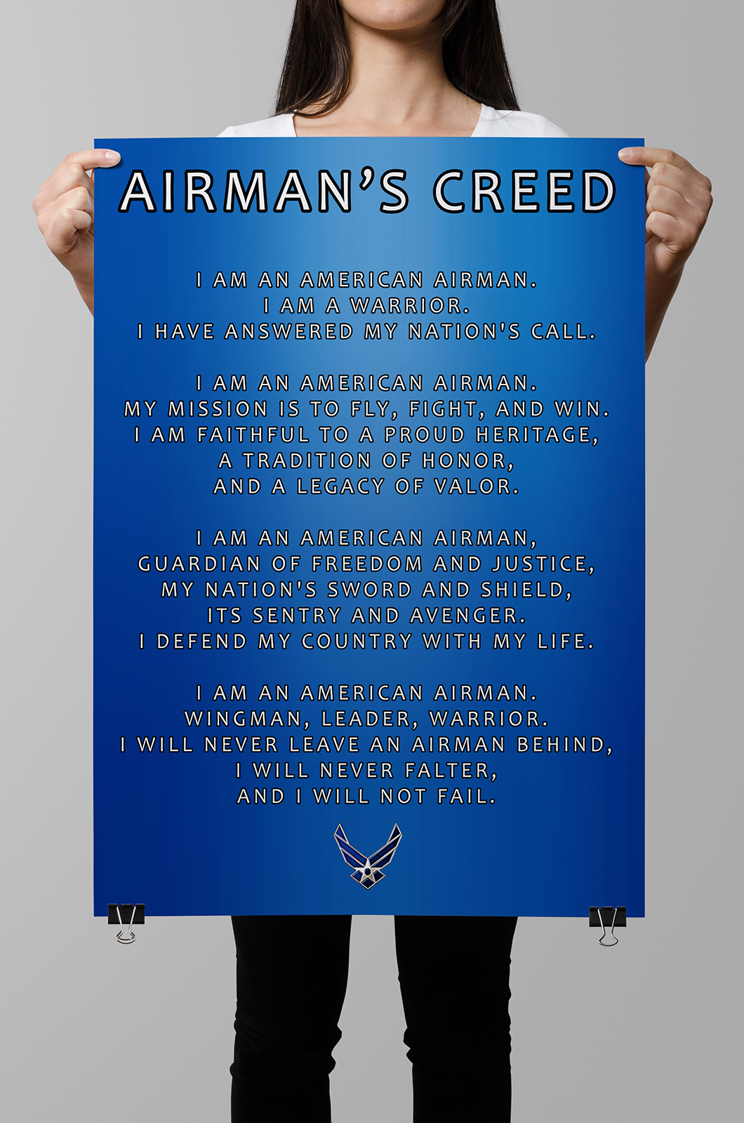 Airmans creed poster honor duty valor airmans creed poster altavistaventures Images
