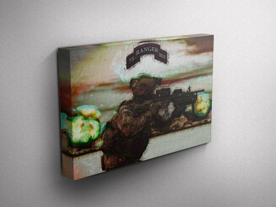 Army Ranger Gallery Wrapped Canvas