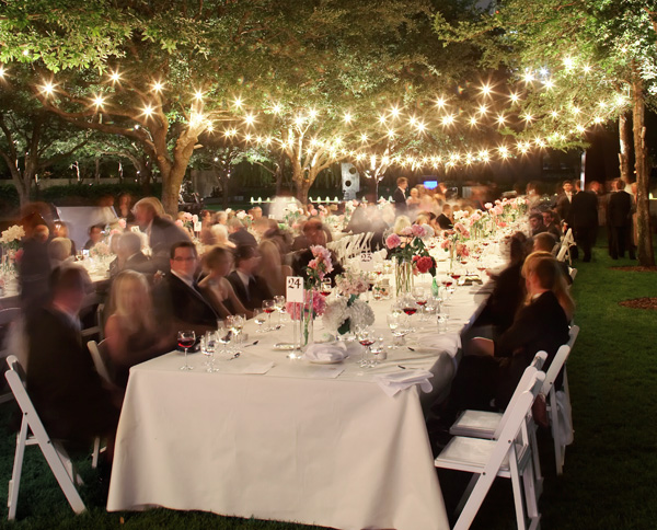 outdoor wedding lighting  Honored Occasions Blog