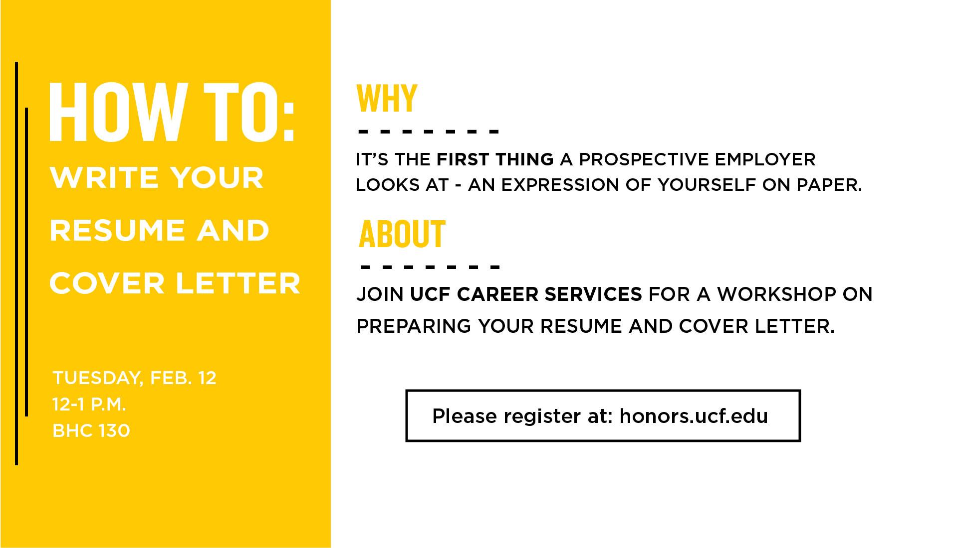 resume workshop ucf