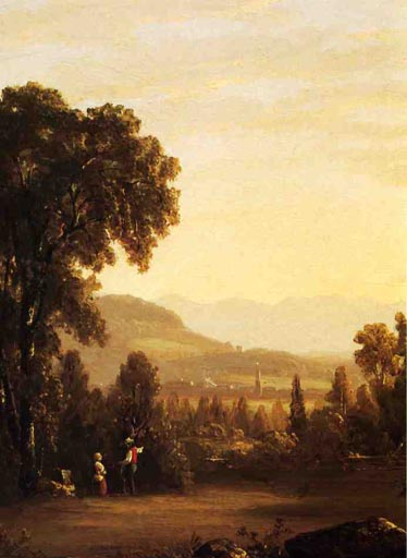 Landscape with Village in the Distance: 1853