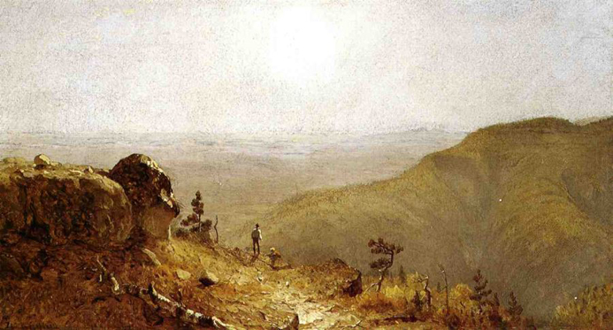 Study for the View from South Mountain, in the Catskills: 1873