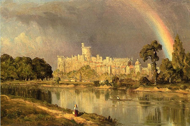 Study of Windsor Castle: 1855