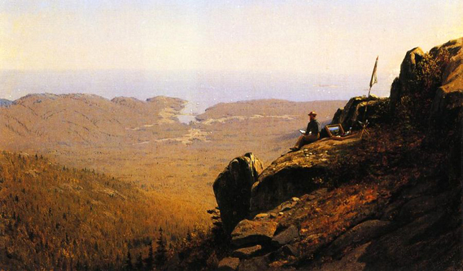 The Artist Sketching at Mount Desert, Maine: 1864