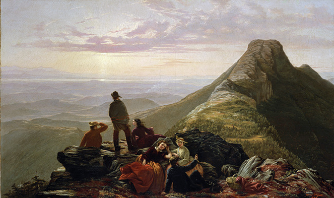 The Belated Party on Mansfield Mountain: 1858 by Jerome Thompson