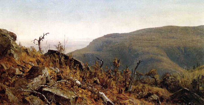The View from South Mountain in the Catskills, A Sketch: 1865