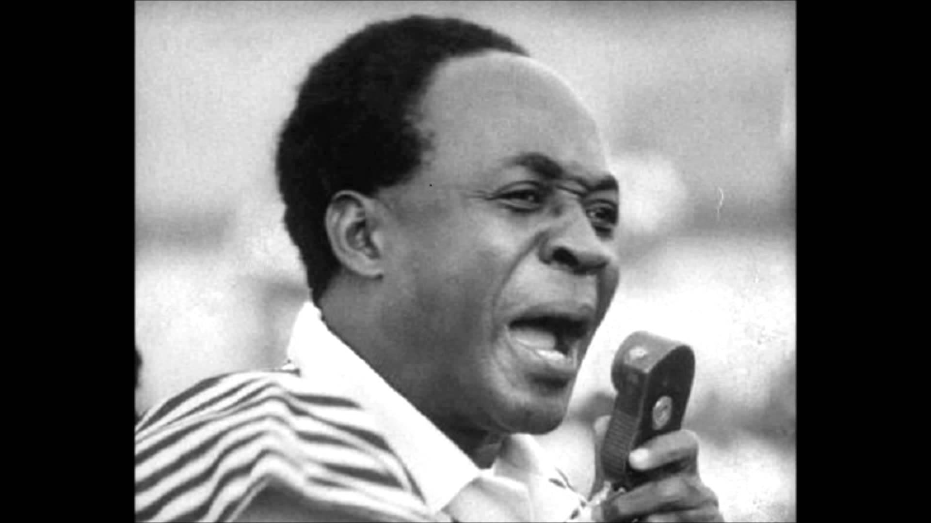 Kwame Nkrumah giving a speech