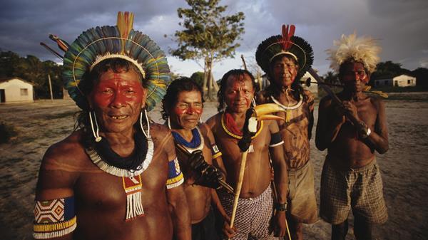 Indigenous Kayapó people of Brazil
