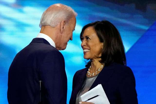 Kamala Harris & Joe Biden stare into each others eyes. The limitations of representation politics.