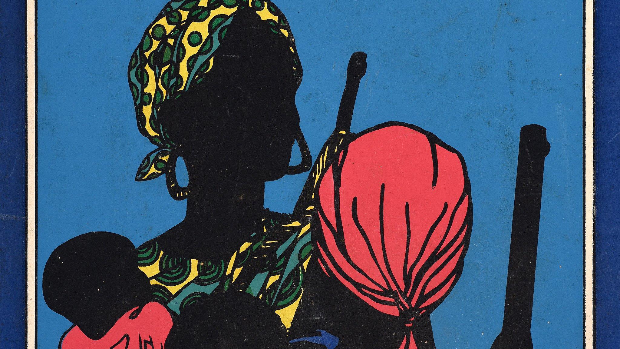 Cuban propaganda celebrating revolutionary African women