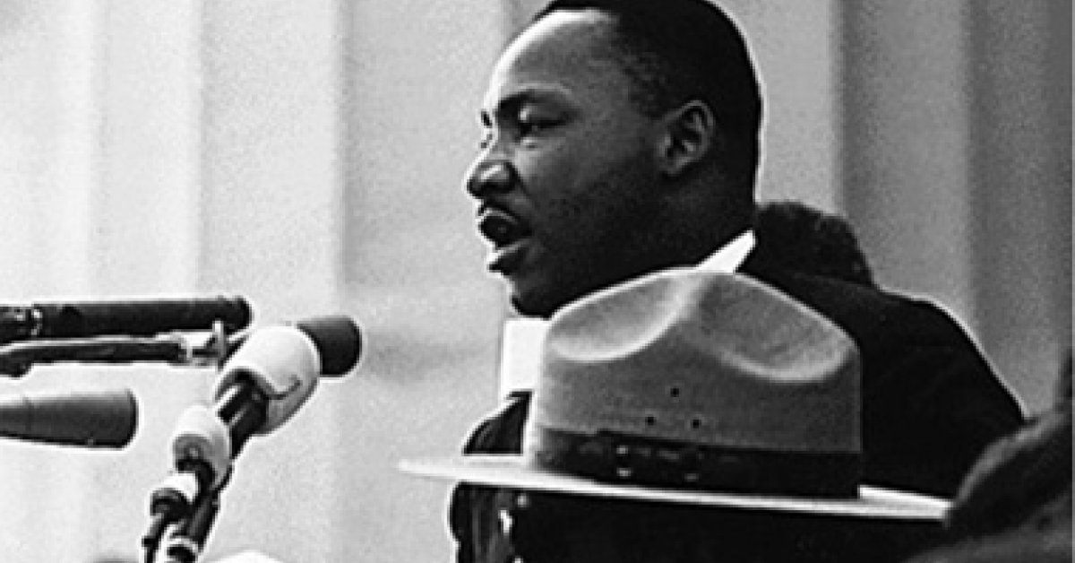 Martin Luther King Jr. speaks at a rally