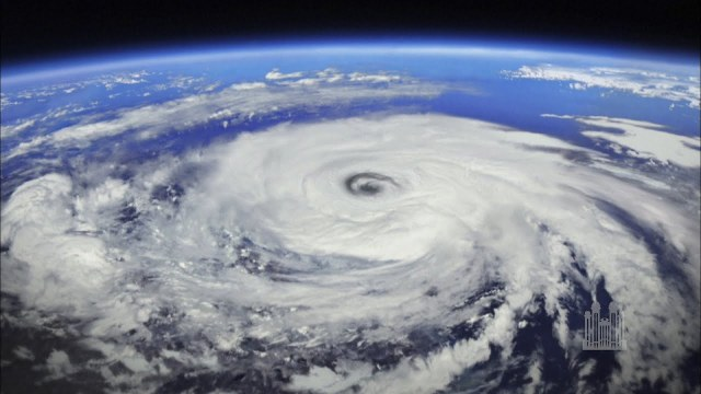 A hurricane forming over the earth - the winds of change