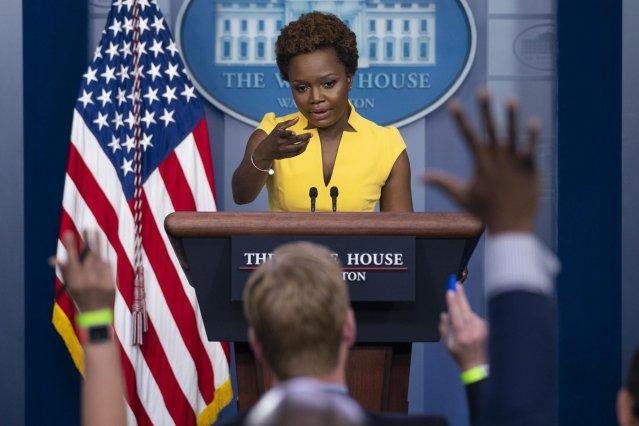 Haitian American Karine Jean Pierre, principal deputy press secretary for the Biden White House