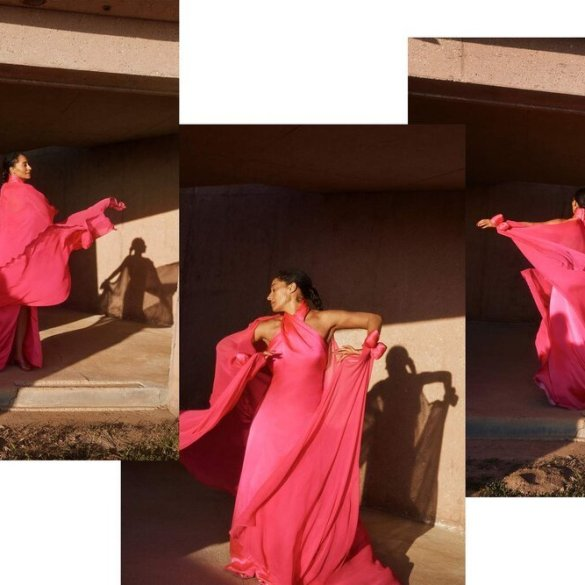 Tracee Ellis Ross for he May 4, 2020 issue of Porter Edit. Photographed by Olivia Malone and styled by Solange Franklin.