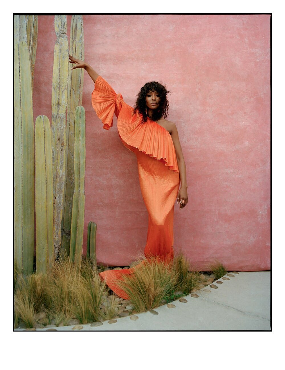 Naomi Campbell for Vogue Spain July/August Cover Story. Photographed by Nadine Ijewere. Hair by Lorenzo Barcella and makeup by Fran Cooper.