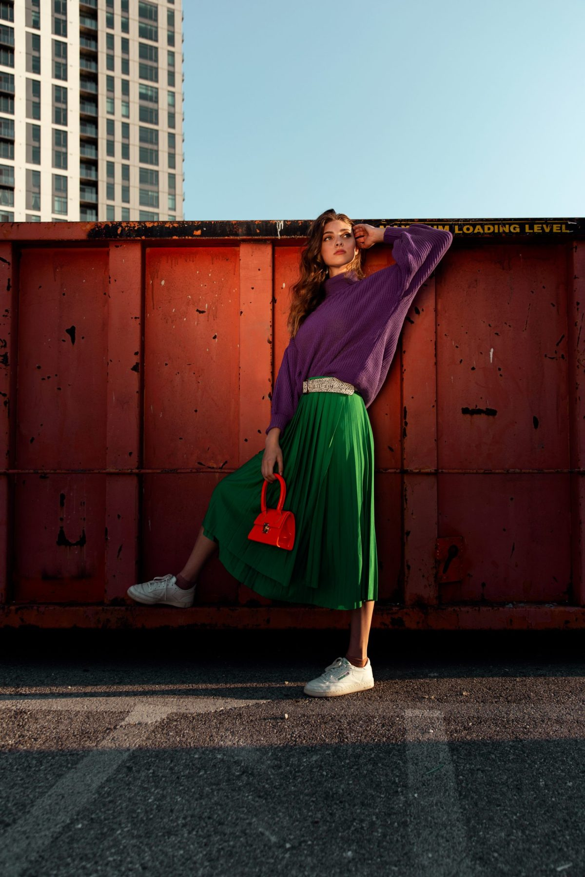 Elizabeth Moffitt in 'Color Blocking' Photographed and styled by Marissa Morris.
