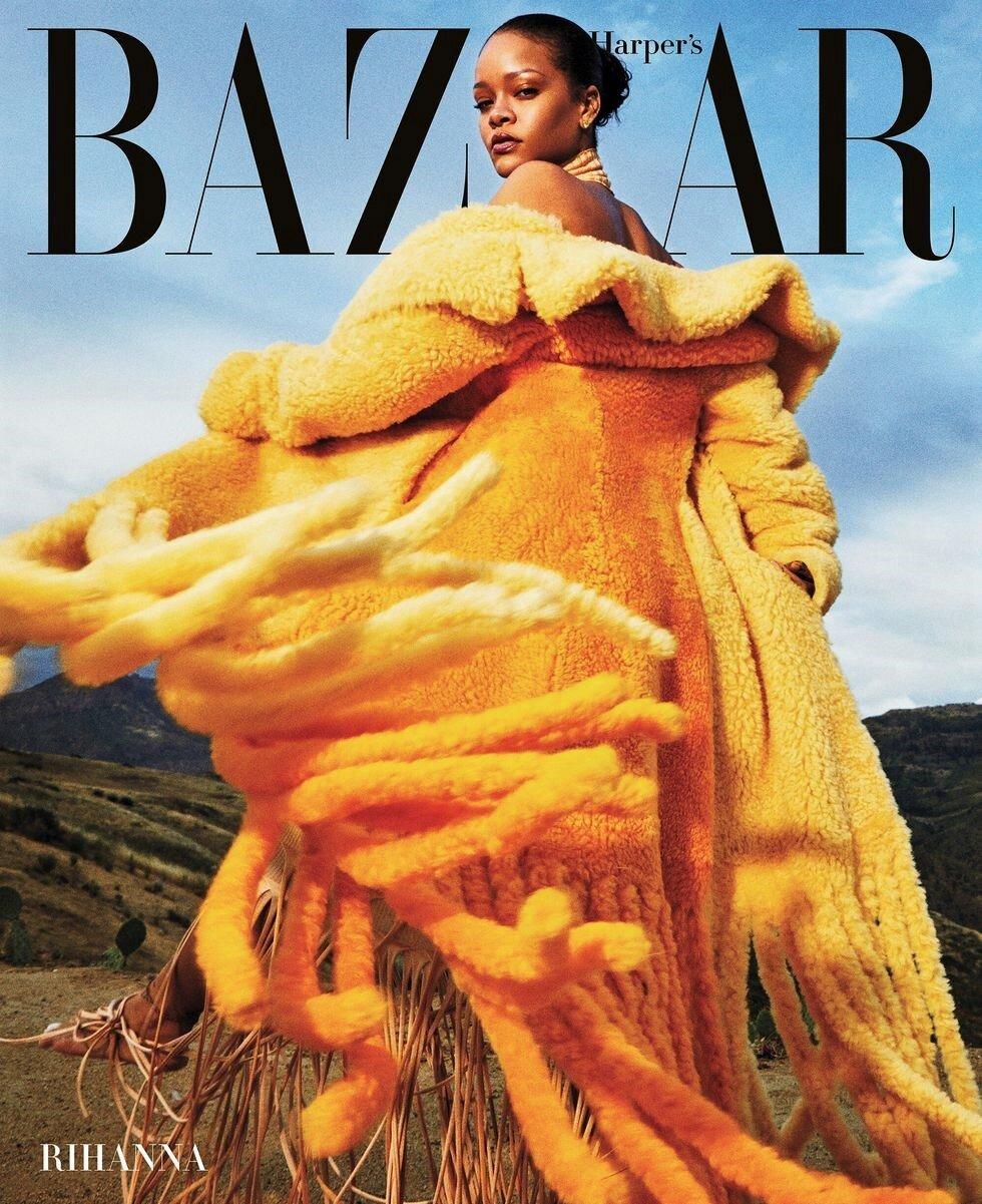 Rihanna covers all 26 September 2020 issues of Harper's Bazaar worldwide. Photographed by Gray Sorrenti with creative direction by Jen Brill.
