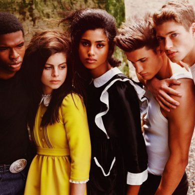 Daisy Alice Heath, Imaan Hammam, @jay.brw, Max Knott, and Valentin Humbroich for Vogue Paris November 2020. Photographed by Alasdair McLellan.