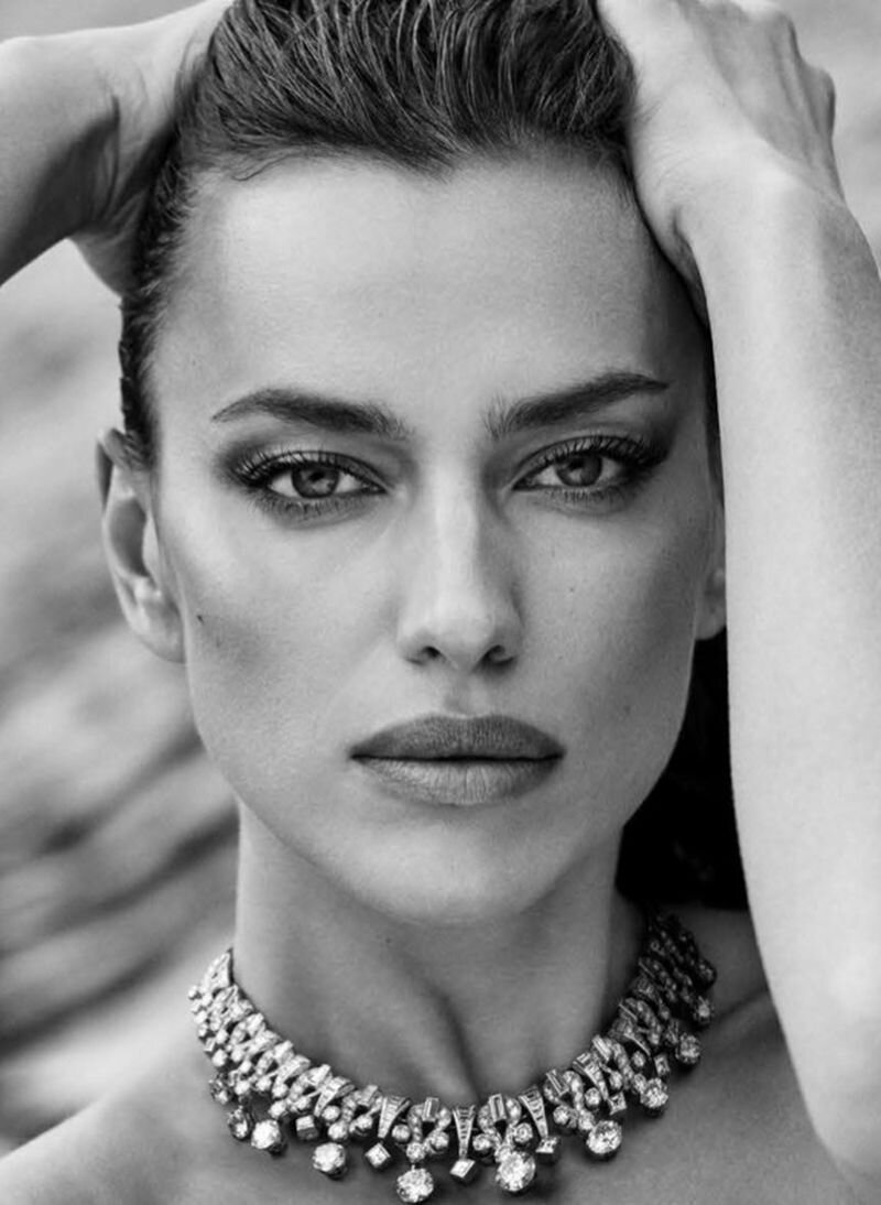 Irina Shayk for Vogue Germany December 2020. Photographed by Luigi & Iango and styled by Schanel Bakkouche.