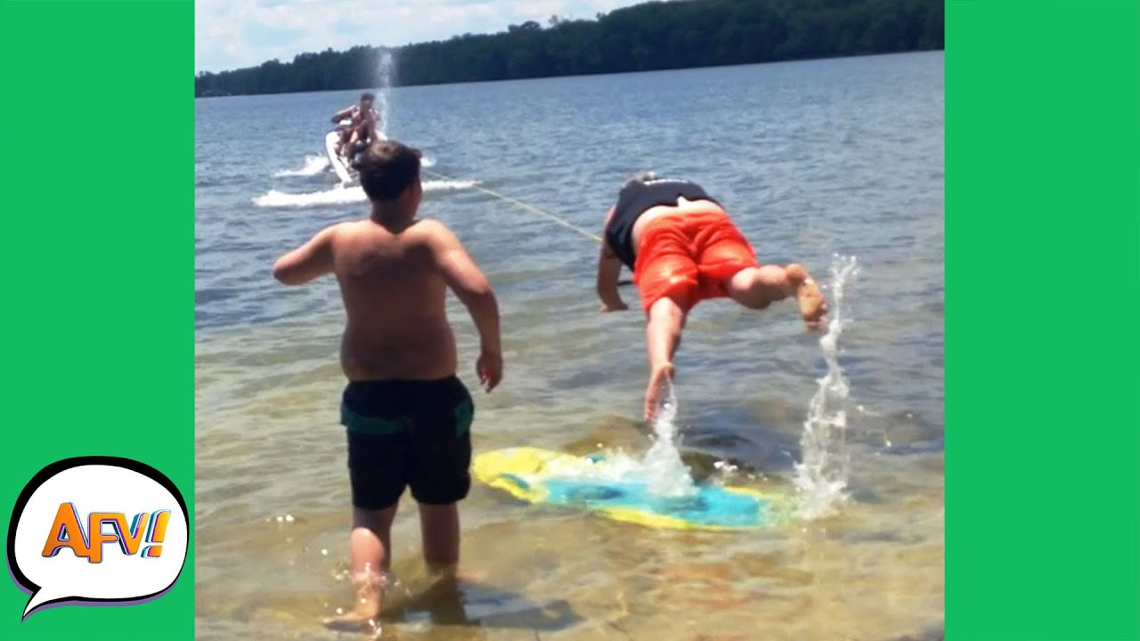 He Got YOINKED Right Off His FEET! 🤣   Best Funny Water Fails   AFV 2021
