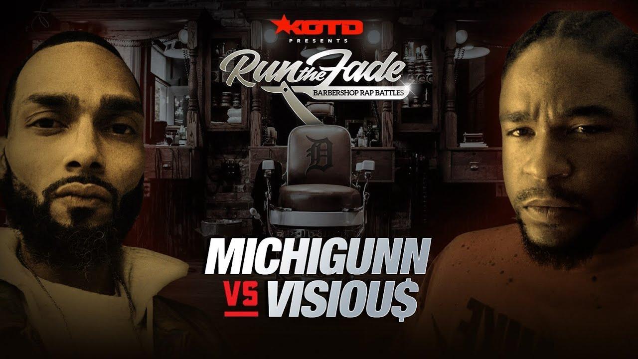 KOTD - Rap Battle - MichiGunn vs Visiou$ | #RTF