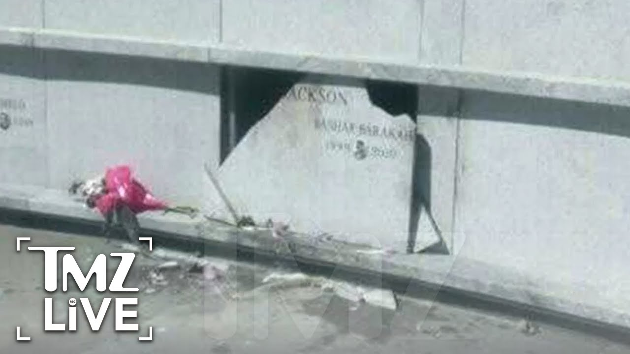 Pop Smoke's Gravesite Crypt Badly Vandalized in Brooklyn Cemetery   TMZ Live