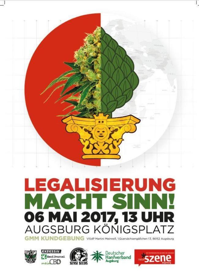Global Marijuana March 2017 – 06. Mai @Königsplatz Augsburg