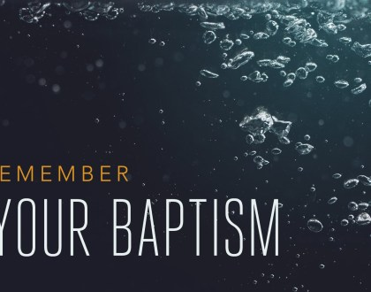 Baptism: Turning Towards Ministry