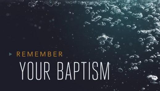 Baptism: Turning Towards Ministry