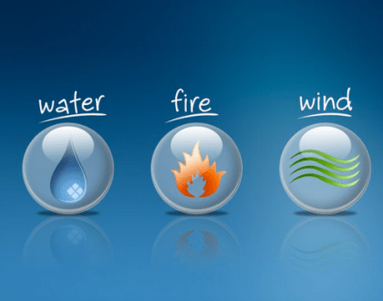 Water, Wind and Fire
