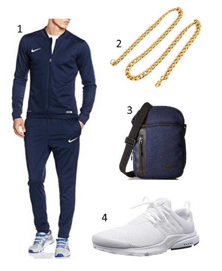Trainingsanzug Blau Outfit