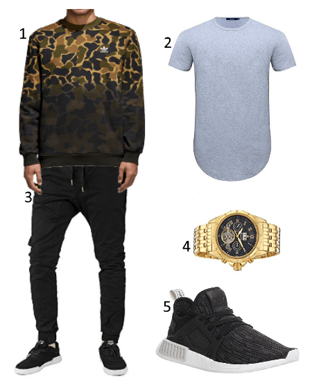 Camouflage adidas Pullover Outfit