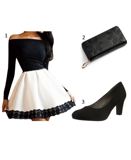 Abendkleid Outfit