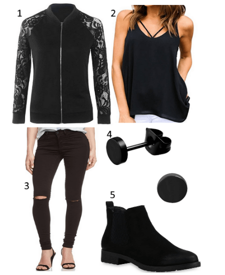 All Black Damen Outfit