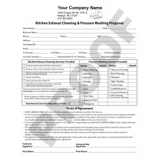 hood cleaner forms