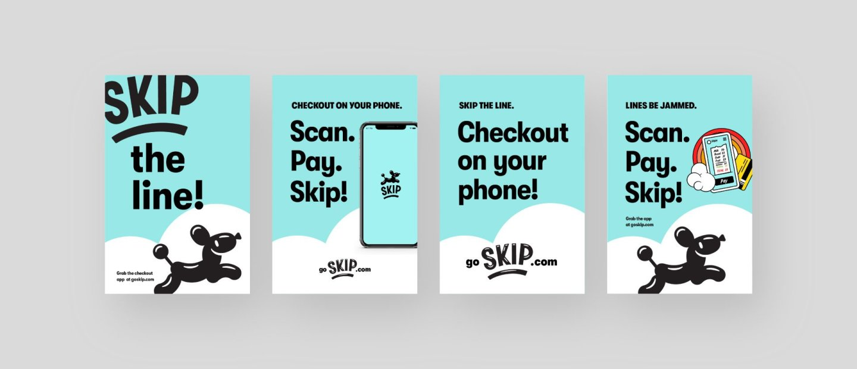 Skip checkout app posters | Brand identity by Hoodzpah design agency