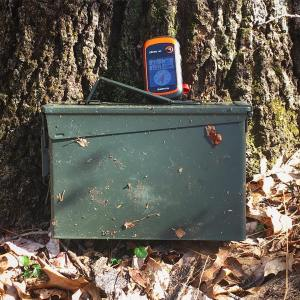 Spring days are nice for geocaching geocache outdoors